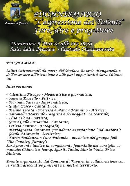 Favara - donne 8 marzo 2015