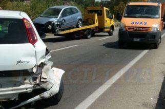 Agrigento: Incidente stradale sulla Ss 640 nel bivio della Mosella.