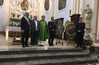Aragona: Consegnati i dipinti trafugati dalla Chiesa Madre