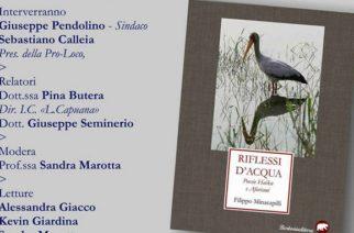Aragona: Venerdì 17, si presenta il libro RIFLESSI D'ACQUA
