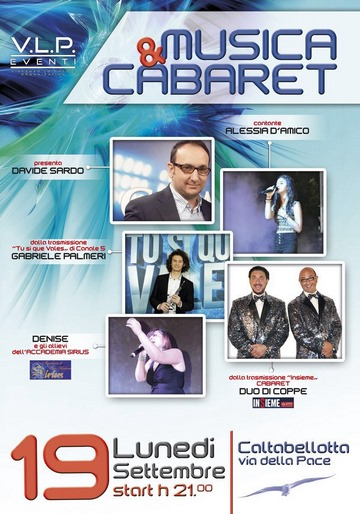 "CALTABELLOTTA:  Spettacolo ""Musica & cabaret"""