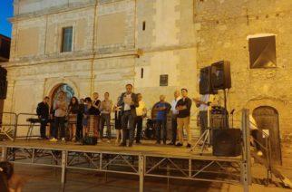 Aragona comizio di ringraziamento per il neo sindaco Peppe Pendolino
