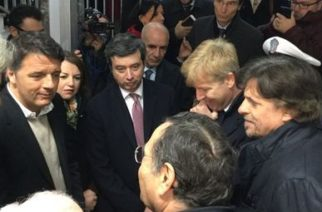 Agrigento: L'ex Presidente del Consiglio, Matteo Renzi ed il Ministro della Giustizia, Andrea Orlando visitano la stanza del Giudice Livatino
