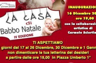 Aragona: La casa di Babbo Natale IV edizione Piazza Umberto I°