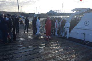 Concluse a Porto Empedocle, le operazioni di sbarco di 69 migranti