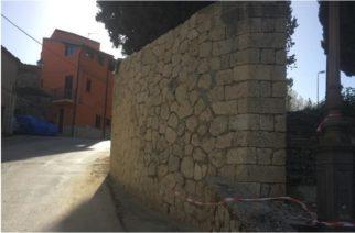 Aragona: Ripristinato il muro di cinta del Calvario