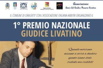 Canicattì: Domani il Premio Nazionale Giudice Livatino organizzato dalla sezione arbitri di Agrigento