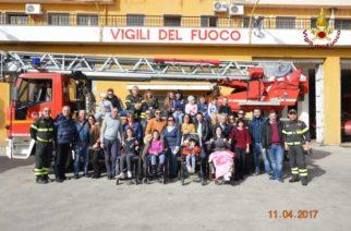 I bambini e i ragazzi dell'Unione Italiana Ciechi e degli Ipovedenti visitano il Comando dei Vigili del Fuoco di Agrigento.