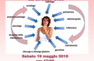 19 maggio 2018 ore 17,00 Convegno sulla Breast Unit – Associazione Athena, Corso Umberto I, 35