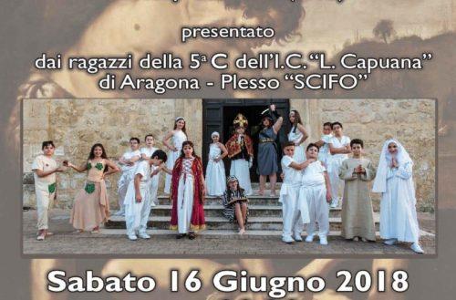 In scena il musical Caino e Abele di Tony Cucchiara ad Aragona dei ragazzi della 5c.