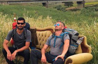 Giuseppe Cipolla e Luciano Graceffa nel percorso La Magna Via Francigena
