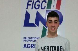 Giuliano Guadagnoli, giovane attaccante agrigentino del Favara Academy ingaggiato dalla Lazio.