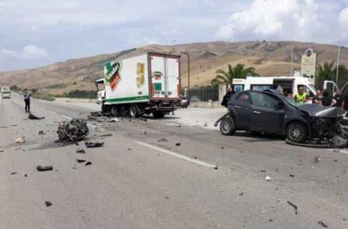 Incidente mortale sulla SS189 nei pressi di Cammarata